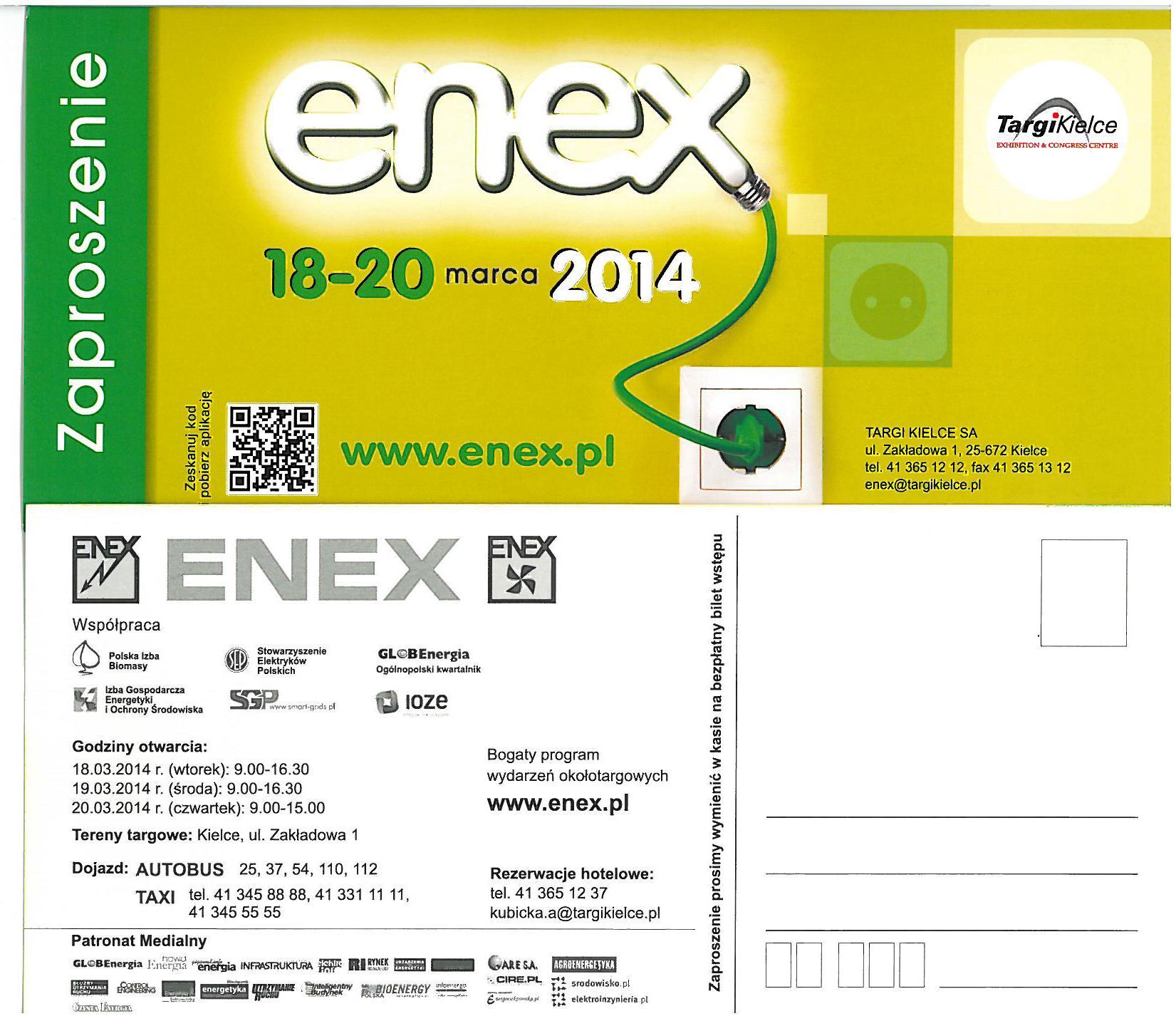 Enex 2014 zaproszenie
